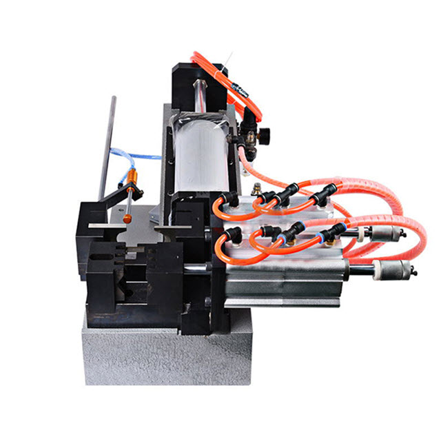 Pneumatic wire and cable stripping machine