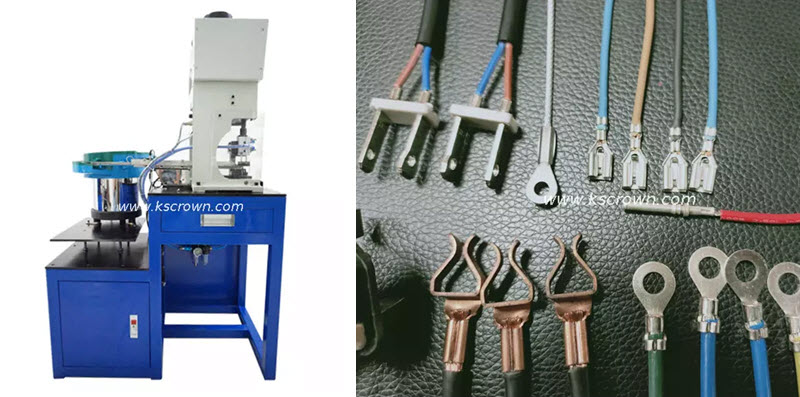 Vibration Plate Feeding Loose Piece Connectors Crimping Machine