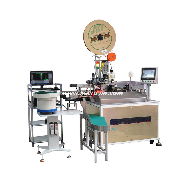 Fully Automatic Wire Single Head Terminal Crimping Tinning Housing Inserting Machine