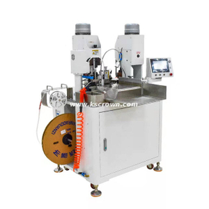 Thin Cable 2-end Connector Crimping Machine